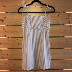 NWT Blue and White Striped Lottie Moss Dress